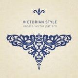 Ornamento barroco del vector en estilo victoriano Foto de archivo libre de regalías
