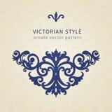 Ornamento barroco do vetor no estilo vitoriano Imagens de Stock Royalty Free