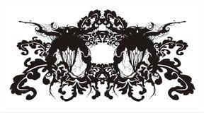 Ornamento barroco floral abstrato ilustração stock