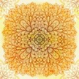 Ornamento beige cuadrado étnico dibujado mano Fotografía de archivo libre de regalías