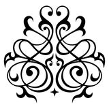 Ornamento bianco del damasco e nero senza cuciture Fotografie Stock