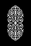 Ornamento bianco del damasco e nero senza cuciture Immagini Stock