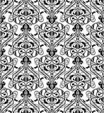 Ornamento bianco del damasco e nero senza cuciture Immagine Stock Libera da Diritti