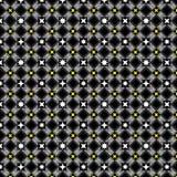 Ornamento bianco del damasco e nero senza cuciture Immagine Stock