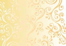Ornamento bianco e giallo Fotografia Stock Libera da Diritti