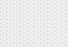 Ornamento in bianco e nero della pianta lineare per le piastrelle di ceramica royalty illustrazione gratis