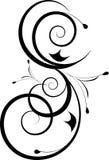 Ornamento in bianco e nero di disegno illustrazione vettoriale