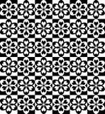 Ornamento in bianco e nero di scacchi Fotografia Stock Libera da Diritti