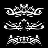 Ornamento in bianco e nero Divisore decorativo Immagini Stock