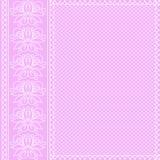 Ornamento bianco su fondo rosa Fotografia Stock