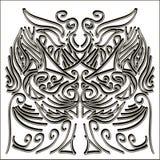 Ornamento blanco y negro Imagen de archivo