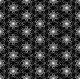 Ornamento blanco y negro Fotos de archivo libres de regalías