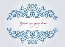 Ornamento blu Fotografia Stock Libera da Diritti