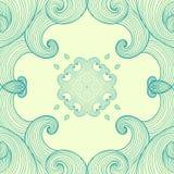 Ornamento blu Fotografie Stock