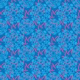 Ornamento blu del batik Immagine Stock Libera da Diritti
