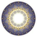 Ornamento blu del piatto Immagine Stock