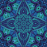 Ornamento blu di eleganza illustrazione di stock