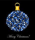 Ornamento blu di natale Fotografie Stock