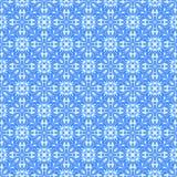 Ornamento blu, modello Fotografia Stock
