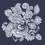 Ornamento bonito de paisley do indiano Imagem de Stock Royalty Free