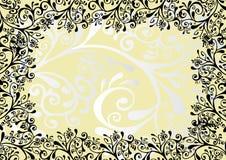 Ornamento branco, preto e amarelo Imagens de Stock