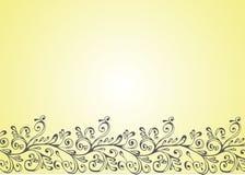 Ornamento branco, preto e amarelo Imagem de Stock