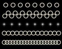 Ornamento brilhantes do círculo Imagem de Stock