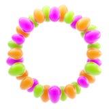 Ornamento brillante brillante circular del huevo de Pascua Imagenes de archivo