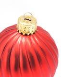 Ornamento brillante rojo de la Navidad Fotografía de archivo libre de regalías