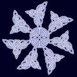 Ornamento céltico de flores Fotos de archivo