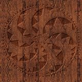 Ornamento céltico de madera tallado Fotos de archivo libres de regalías