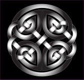 Ornamento céltico en el metal Imágenes de archivo libres de regalías