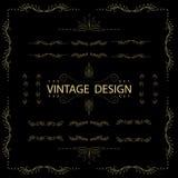 Ornamento caligráfico del vintage de los elementos del diseño imagenes de archivo