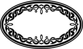 Ornamento celtico ovale Fotografia Stock Libera da Diritti
