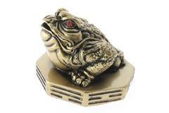 Ornamento chino de la rana del dinero foto de archivo