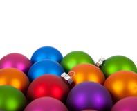 Ornamento/chucherías multicolores de la Navidad imagen de archivo libre de regalías