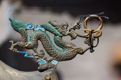 Ornamento cinese del drago immagini stock libere da diritti