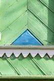 Ornamento cinzelado de uma casa de madeira Imagens de Stock