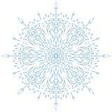 Ornamento circolare del fiocco di neve Fotografia Stock Libera da Diritti