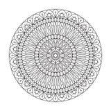 Ornamento circolare La combinazione di geometria e di modelli disegnati a mano Fatto nello stile della linea arte illustrazione di stock