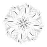 Ornamento circular abstracto blanco y negro Fotos de archivo