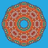 Ornamento circular coloreado en estilo oriental Imagen de archivo libre de regalías