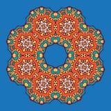 Ornamento circular coloreado en estilo oriental Fotografía de archivo libre de regalías