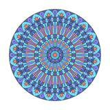 Ornamento circular A combinação de geometria e de testes padrões tirados mão ilustração stock