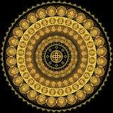 Ornamento circular concéntrico stock de ilustración