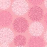 Ornamento circular cor-de-rosa do teste padrão ilustração royalty free