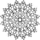 Ornamento circular del vector Mandala redonda del modelo Imágenes de archivo libres de regalías