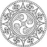 Ornamento circular del vector Mandala redonda del modelo Imagen de archivo