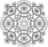 Ornamento circular del vector Mandala redonda del modelo Imagen de archivo libre de regalías