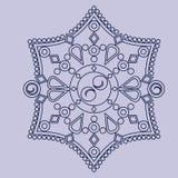 Ornamento circular del vector Mandala redonda del modelo Foto de archivo libre de regalías